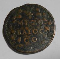 Vatikán 1/2 Baiocco 1644-1655 Inocent X.