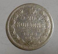 Rusko 20 Kopějka 1889