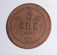 Švédsko 5 Öre 1884