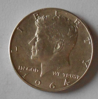 USA 1/2 Dolar 1964 Prezident Kennedy