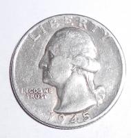 USA 1/4 Dolar 1945