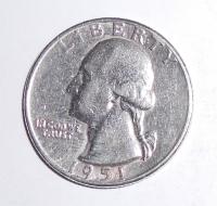 USA 1/4 Dolar 1951