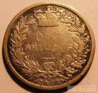 Anglie 1 Šilink 1868 Viktorie