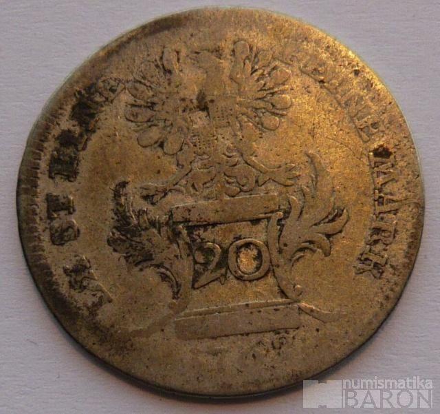 Brandenburg 20 Krejcar 1762 Alexander