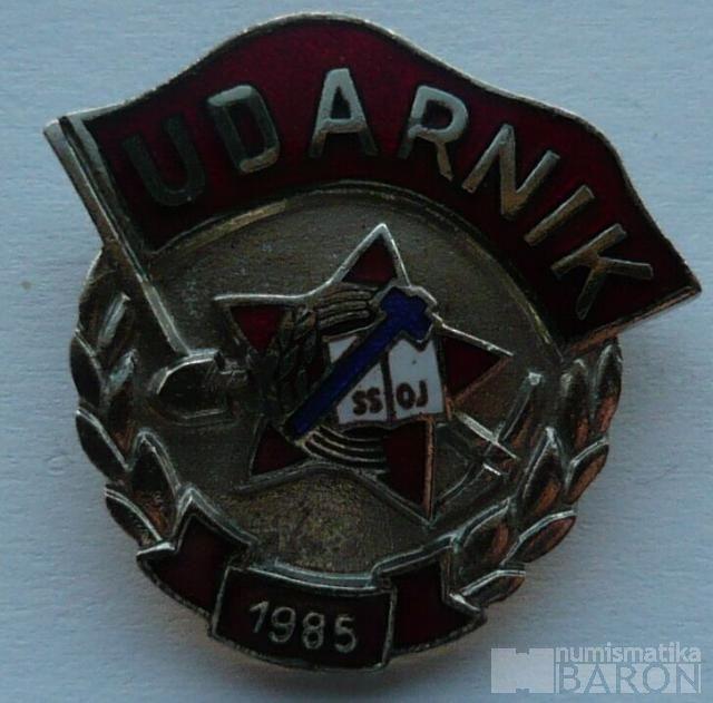 Jugoslávie - úderník 1985