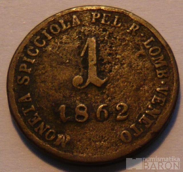 Rakousko 1 Soldo 1862 V