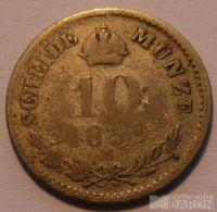 Rakousko 10 Krejcar 1859 M
