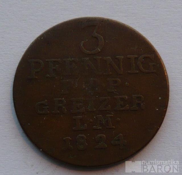 Reuss 3 Pfenig 1824