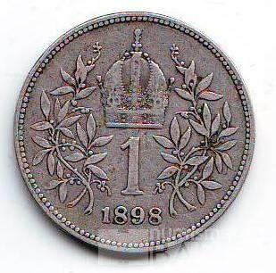 1 Koruna(1898), stav 1-/2, ražba bz