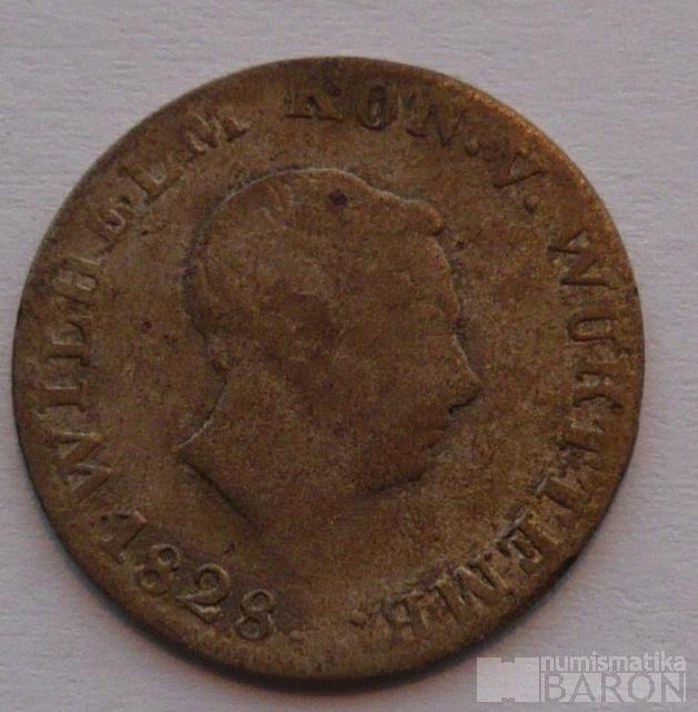 Wurtenberg VI. Krejcar 1828 Wilhelm