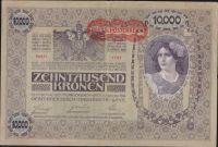 10.000K/1918-přetisk Deutschösterreich/, stav 2, série 1187
