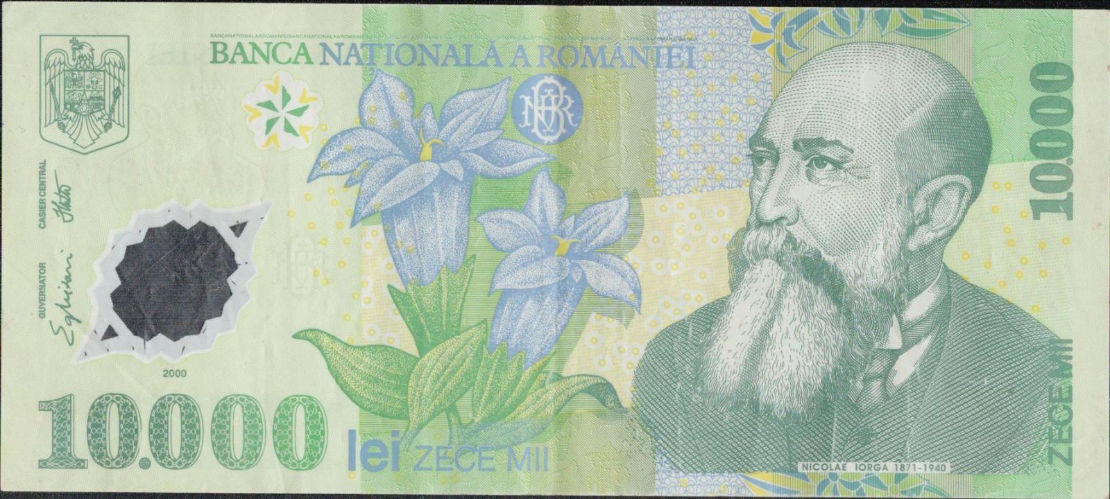 10000Lei/2000-Rumunsko/, stav 1-, plastová