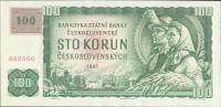 100Kč/1961-93, kolek ČR/, stav 0, série G