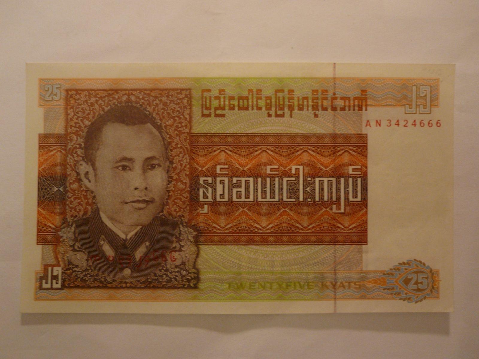 25 Kyats, generál, Burma