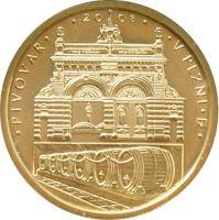 2500 Kč(2008-pivovar v Plzni, Au 999, 7,78g), stav bk, certifikát, etue