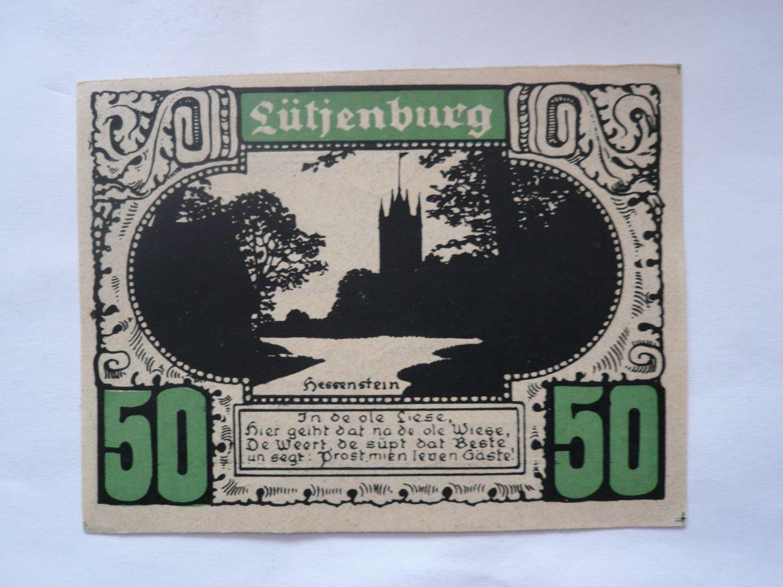 50 Pf., nouzovka Piön,Německo