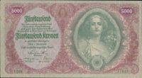 5000Kronen/1922/, stav 1-, série 1200