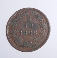 Rakousko 5/10 Krejcar 1885