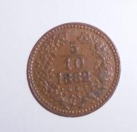 Uhry 5/10 Krejcar 1882 KB