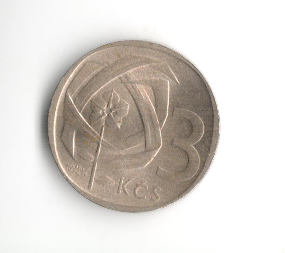 3 Kčs(1968), stav 1+/0