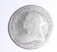 Anglie 6 Pence 1900