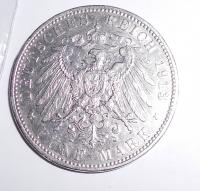 Bavorsko 5 Marka 1913 D Otto