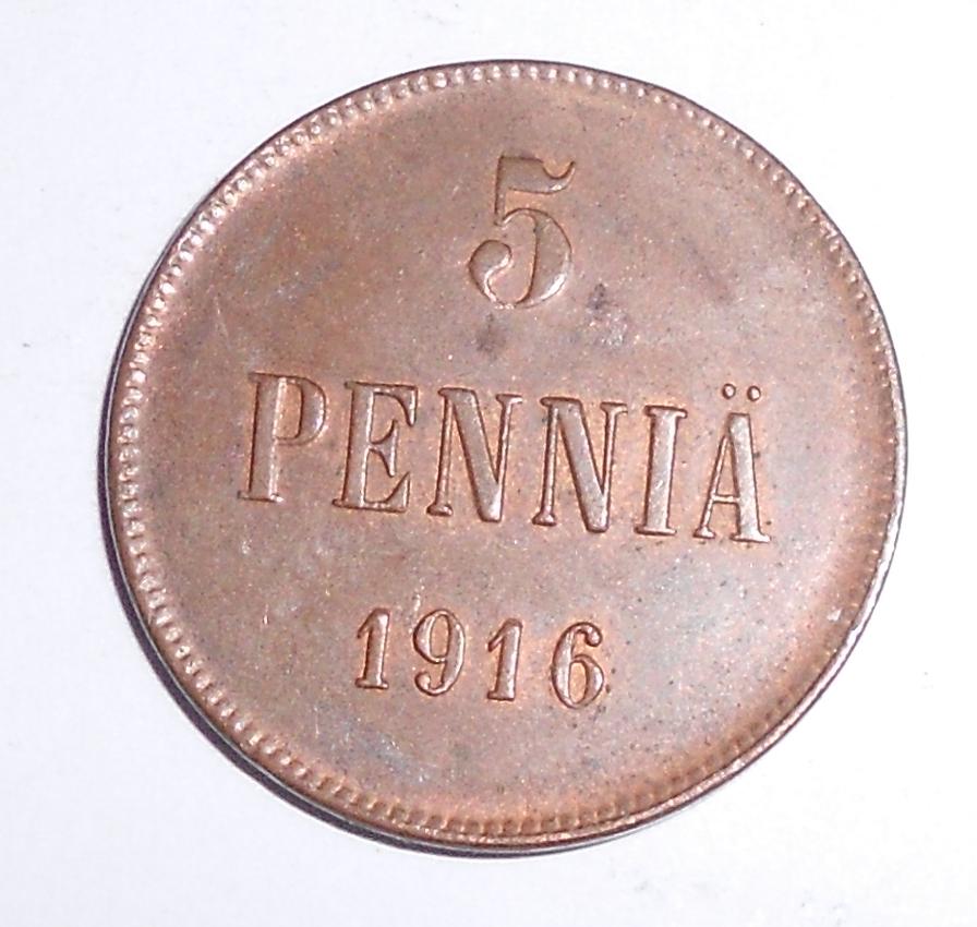 Finsko pod Ruskem 5 Penia 1916