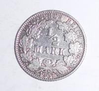 Německo 1/2 Marka 1907 J