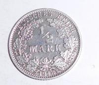Německo 1/2 Marka 1918 A