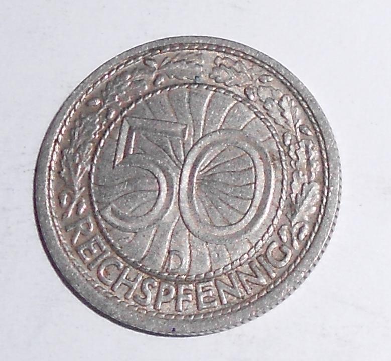 Německo 50 Pfenik 1935 D
