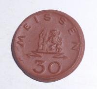Německo – Míšeň 30 Pfenik 1921, porcelán