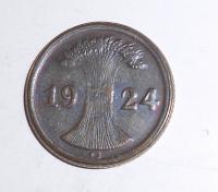 Německo Složenina ze 2 mincí 10 Pfenik + 2 Pfenik 1924