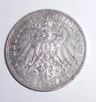 Prusko 3 Marka 1908 Vilém II.