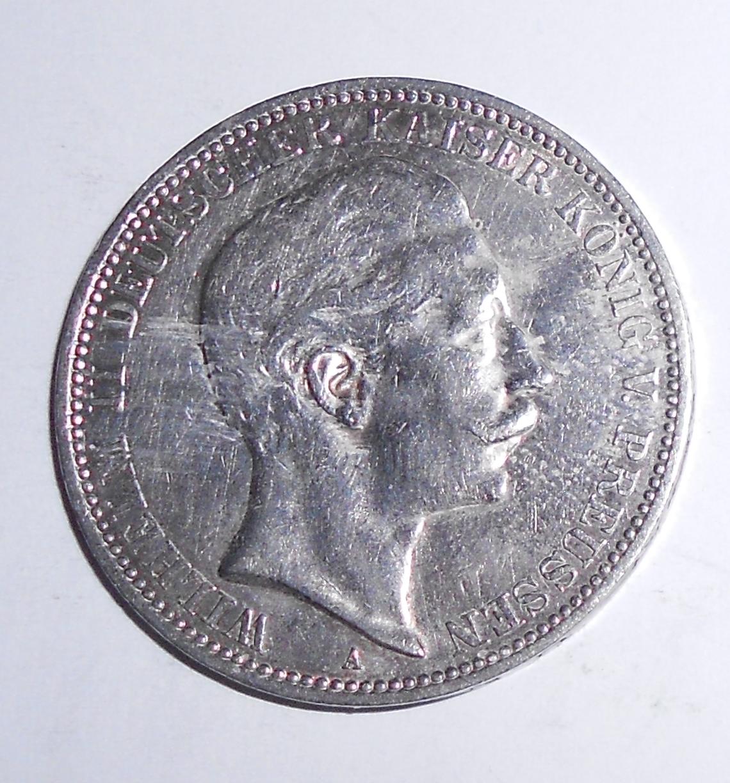 Prusko 3 Marka 1910 Vilém II.