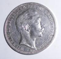 Prusko 3 Marka 1911 Vilém II.