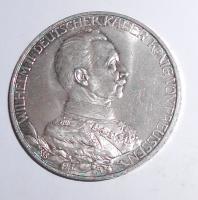 Prusko 3 Marka 1913 Vilém II.