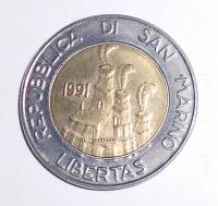 San Marino 500 Lira 1991