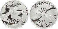 200 Kč(2011-100. výročí prvního dálkového letu Jana Kašpara), stav PROOF, etue, certifikát