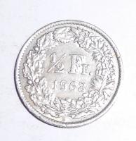 Švýcarsko 1/2 Frank 1963 B