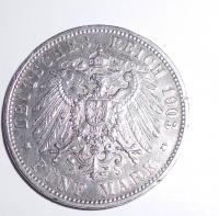 Württenberg 5 Marka 1903 F Vilém II.