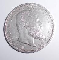 Württenberg 5 Marka 1913 F Vilém II.
