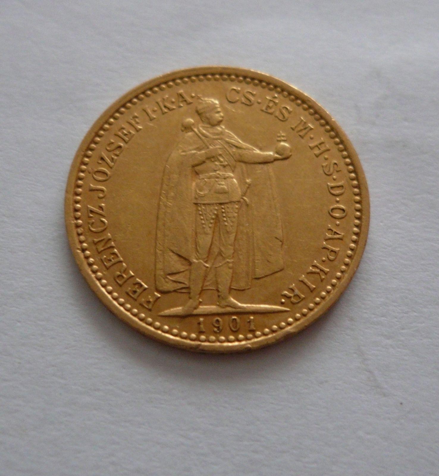 10 Koruna, 1901, KB Uhry
