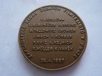 100 let založení klubu filatelistů v Praze, 1987 průměr 50mm, ČR