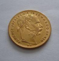 8 Zlatník/Gulden(1884-ražba KB, Au 900, 6,45g)
