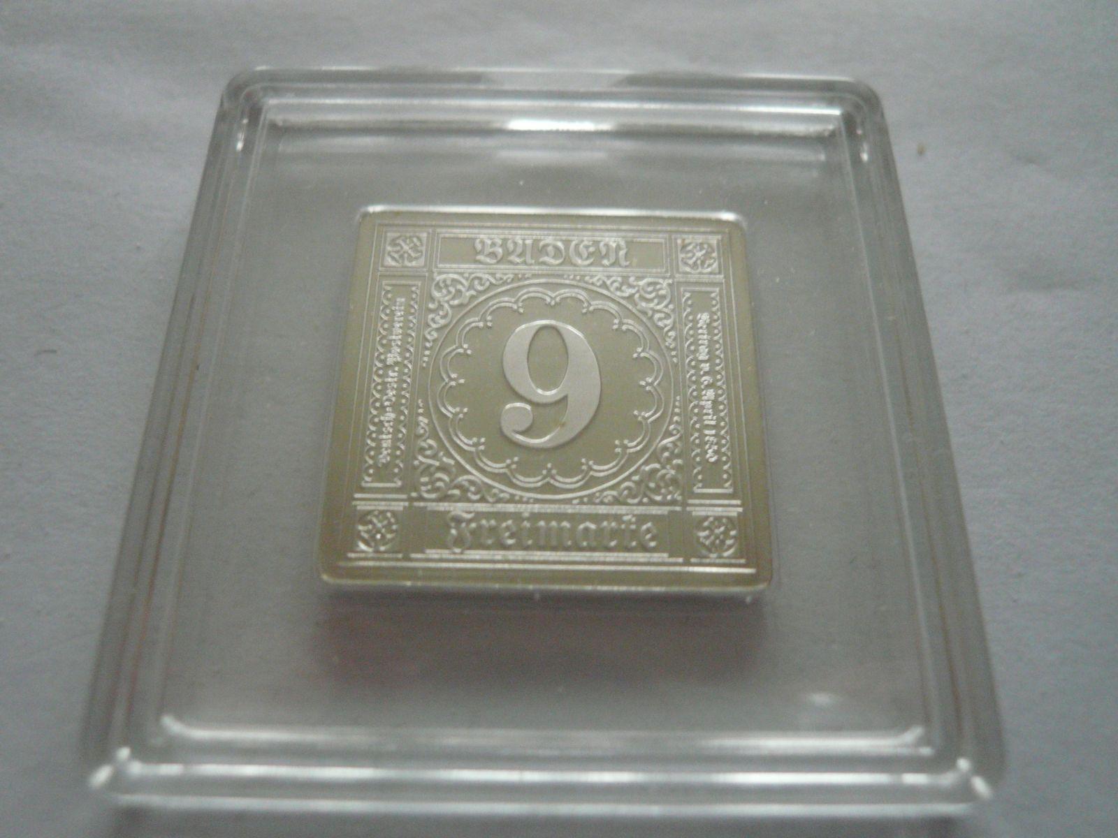 9 Krejcar 1851, 999/1000 Baden Schweiz
