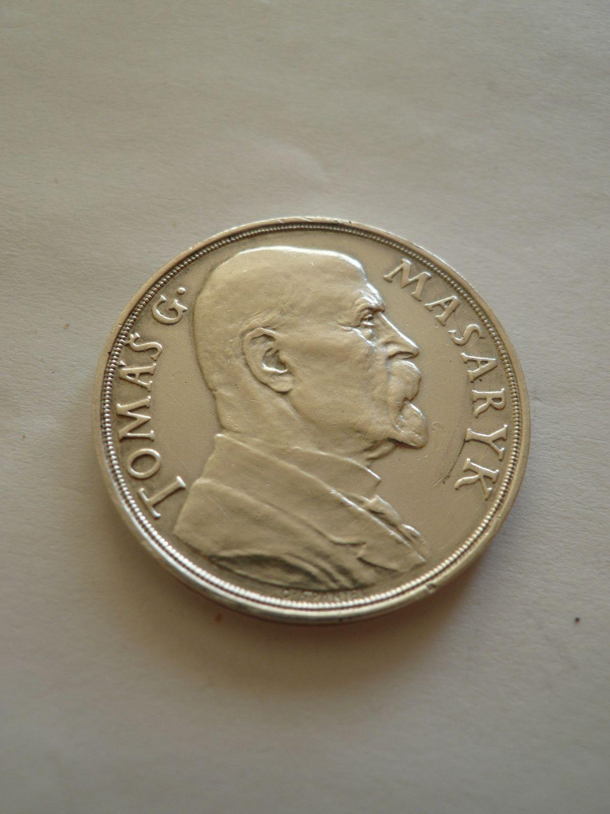 Ag medaile 85.narozeniny TGM, 1935, ?32, ČSR