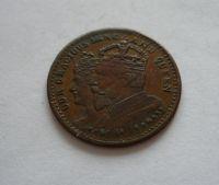 korunovační žeton Edvarda 1902, bronz, Anglie