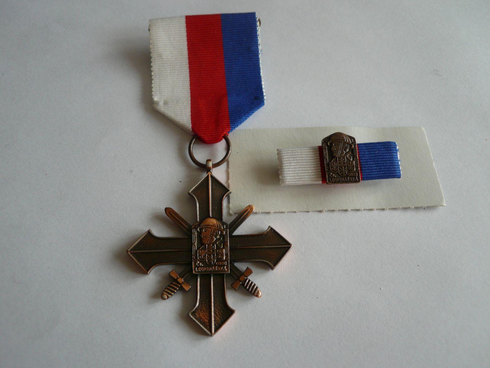 Kříž čs. obce legionářské bronzového stupně ČSR