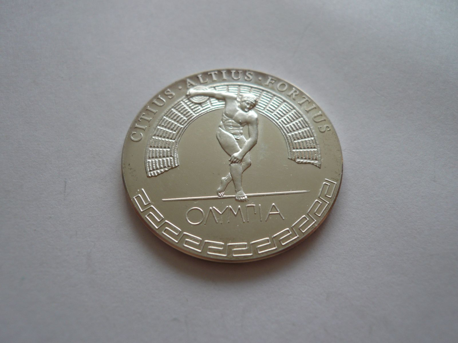 Medaile Olympijské hry 1896, Ag 1999, hod diskem, ČSR