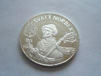medaile sv.Norbert, Ag průměr 40mm, ČR